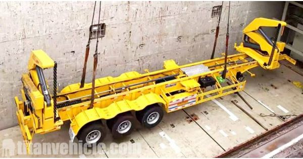 45T Container Loader Trailer will be sent to Guinea