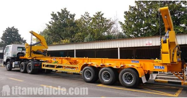 How to operate and use self loading trailer?3 Axle 45T Sidelifter will be sent to Dominica