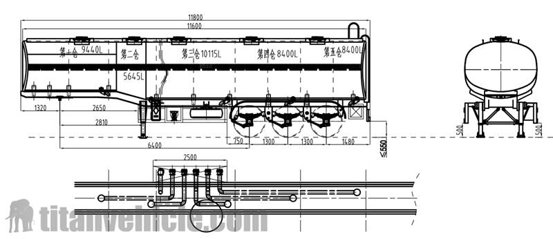 Drawing of Fuel Tanker Trailer