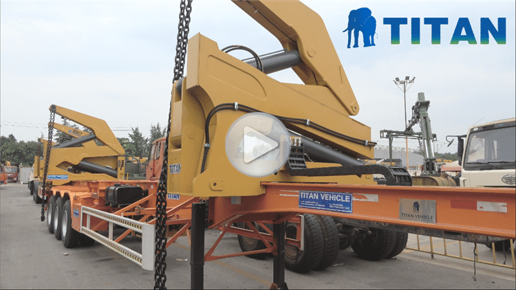 37Ton Container Side Loader Video Display